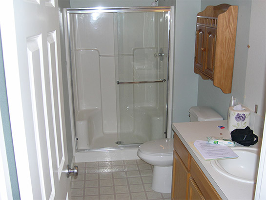 Accessible Bathroom - Before